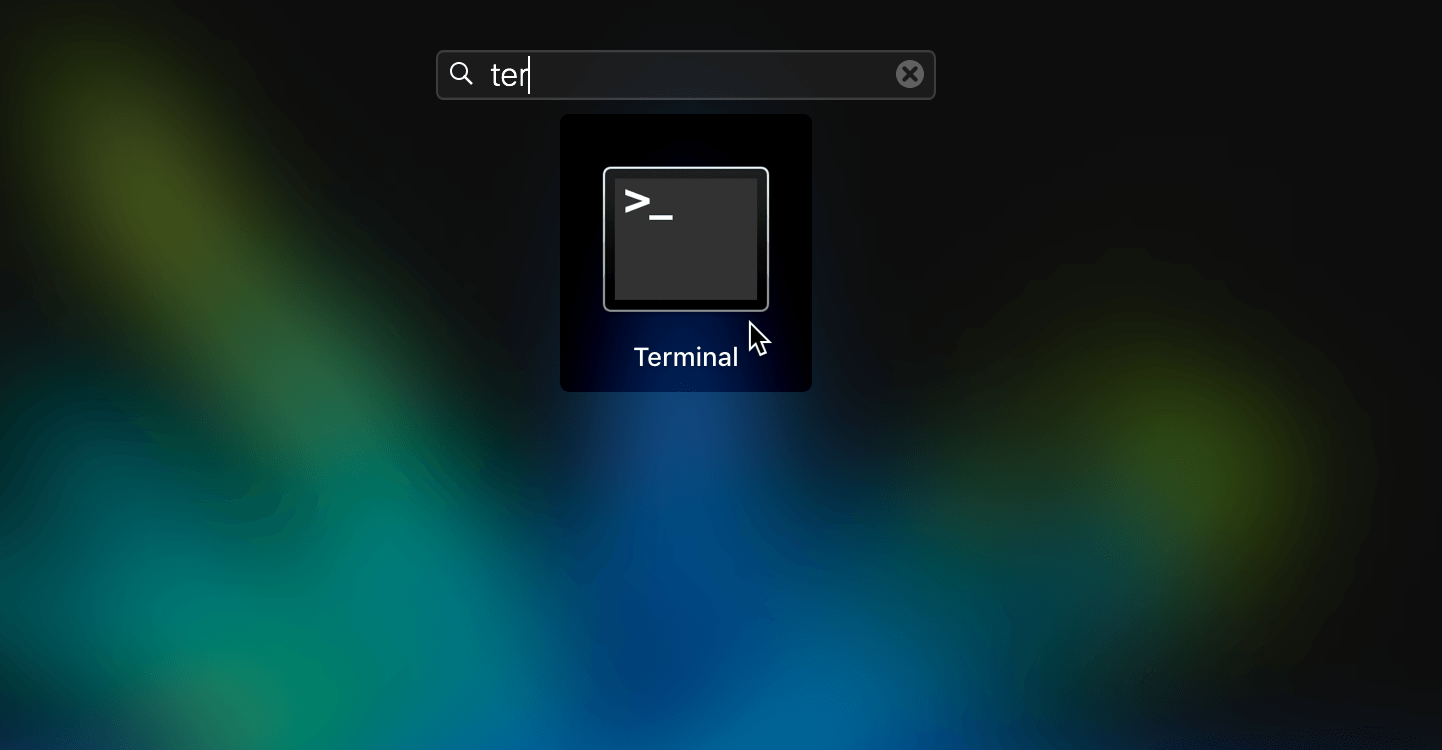 Open terminal on a macbook
